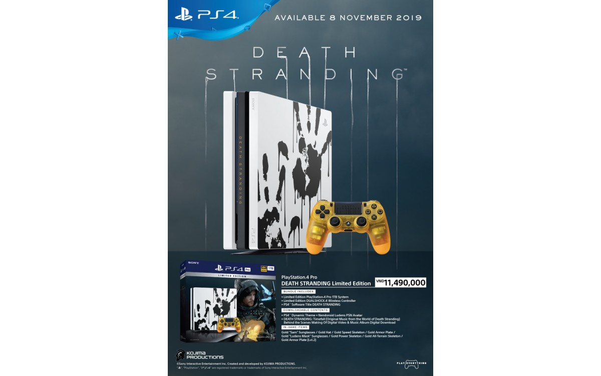 PLAYSTATION 4 PRO DEATH STRANDING LIMITED EDITION SIÊU ĐẸP